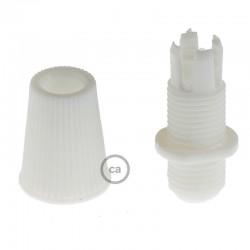 Passe-câble plastique noir, blanc ou transparent