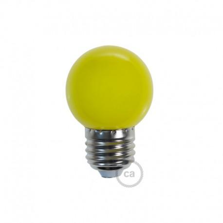 ampoule led sph rique diam tre 45 mm de couleur jaune. Black Bedroom Furniture Sets. Home Design Ideas