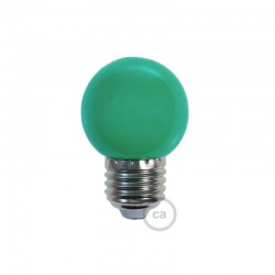 Ampoule LED décorative VERTE - E27 / 220 Volts / G45 / 1W
