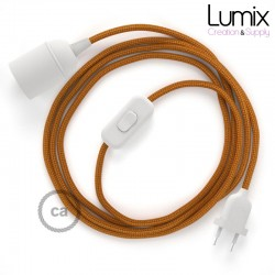 Lampe baladeuse câble textile souple Whiskey effet soie