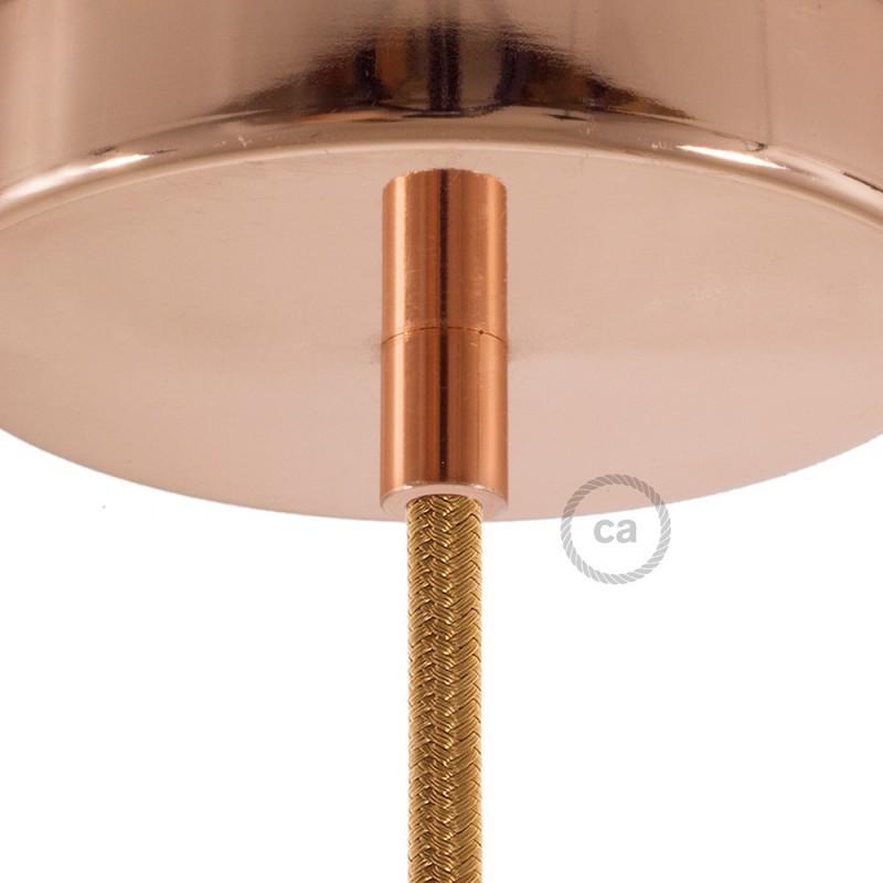 kit rosace de plafond m tal de couleur m tal cuivre. Black Bedroom Furniture Sets. Home Design Ideas