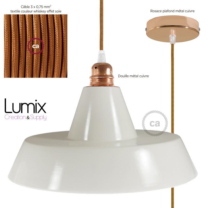 suspension c ramique maill e style industrielle. Black Bedroom Furniture Sets. Home Design Ideas