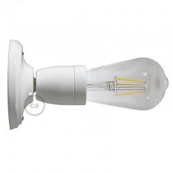 Lampe applique porcelaine blanche en plafonnier ou en applique murale