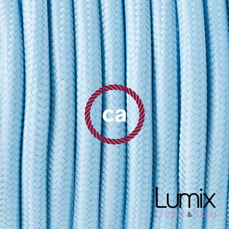 lampe baladeuse e27 c ble textile bleu azur clair effet soie. Black Bedroom Furniture Sets. Home Design Ideas