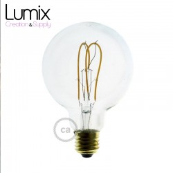 Ampoule gros Globe à filament LED Transparent - 5 W / 220 Volts - G95
