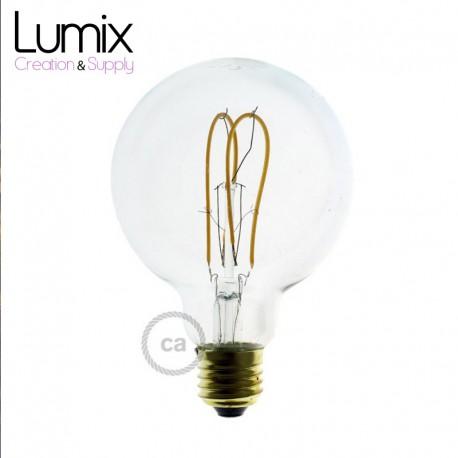 Ampoule gros Globe à filament LED Transparent - 5 W / 220 Volts - G95