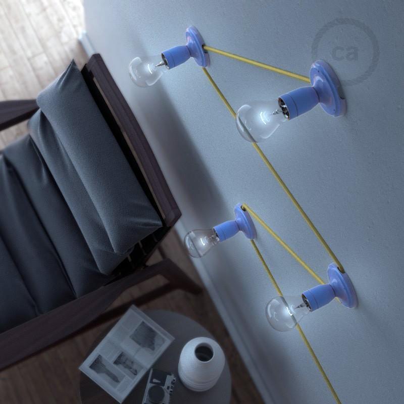 luminaire porcelaine sobre en applique murale ou plafonnier. Black Bedroom Furniture Sets. Home Design Ideas