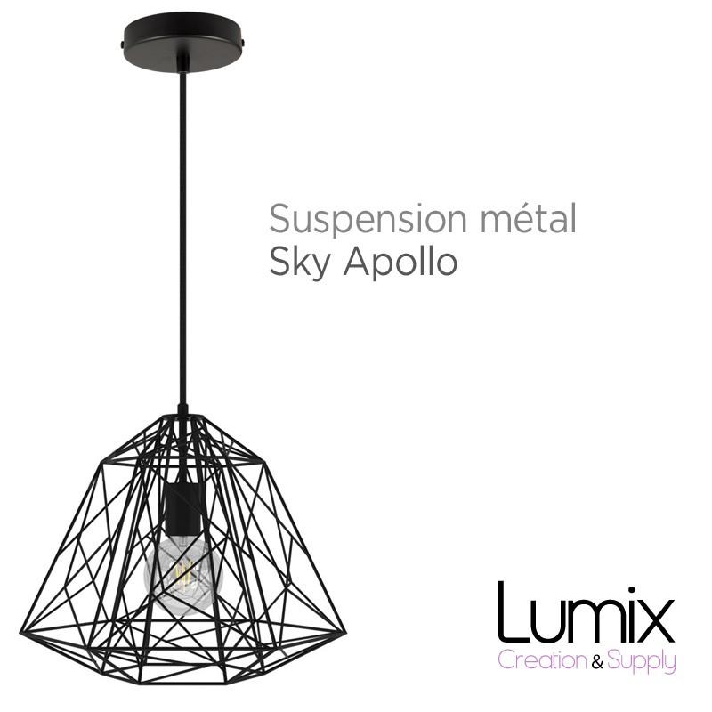 suspension sky apollo grande cage xxl noir. Black Bedroom Furniture Sets. Home Design Ideas