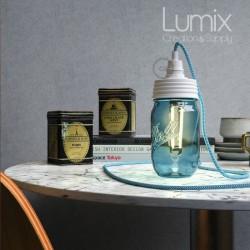 Lampe bocal Mason Jar à poser - 2m50 de câble avec interrupteur bipolaire