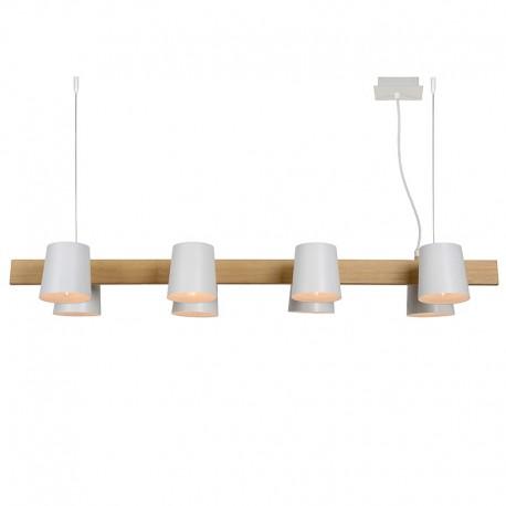 OCTO - Suspension poutre 8 lampes blanche orientable E14