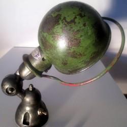 Applique lampe Jieldé - vert d'origine encore visible sur le globe