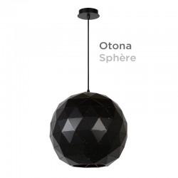 Suspension sphère polygone OTONA diamètre 40 cm métal NOIR