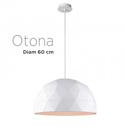 Suspension polygone OTONA diamètre 60 cm Métal BLANC
