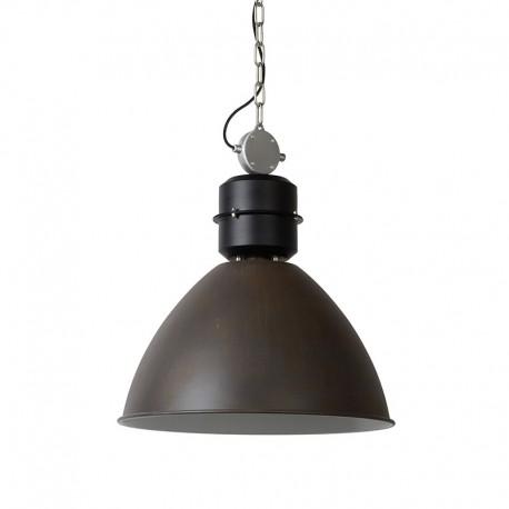 Suspension industrielle métal rouille GARRIS diamètre 50 cm