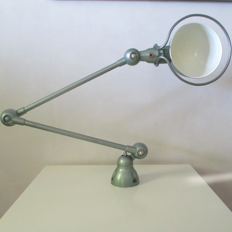 lampe jielde authentique 2 bras vert industrie. Black Bedroom Furniture Sets. Home Design Ideas
