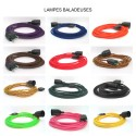 Lampe baladeuse SANS INTER à personnaliser - câble textile, douille bakélite