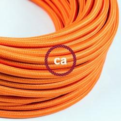 Câble textile 2 x 0,75 mm2 orange effet soie