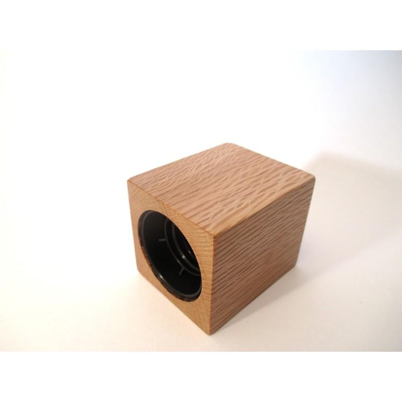 Porte douille en bois massif de ch ne vert - Porte en bois massif ...