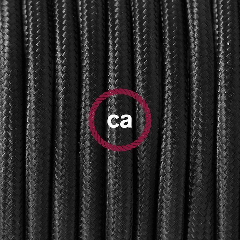 lampe baladeuse e27 c ble textile noir extra souple avec. Black Bedroom Furniture Sets. Home Design Ideas
