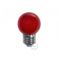 Ampoule LED décorative ROUGE - E27 / 220 Volts / G45 / 1W