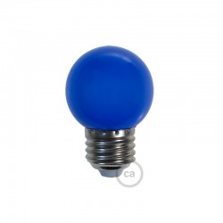 Ampoule LED décorative BLEU - E27 / 220 Volts / G45 / 1W