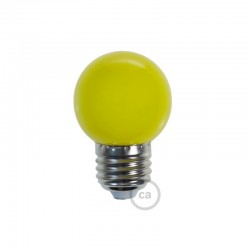 Ampoule LED décorative JAUNE - E27 / 220 Volts / G45 / 1W