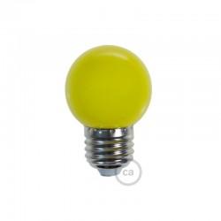 Ampoule LED décorative JAUNE - E27 / 220 Volts / G45 / 1W