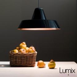 Black ceramic pendant lamp industrial style bowl type