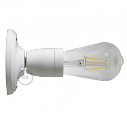 White porcelain wall lamp as a ceiling or wall lamp