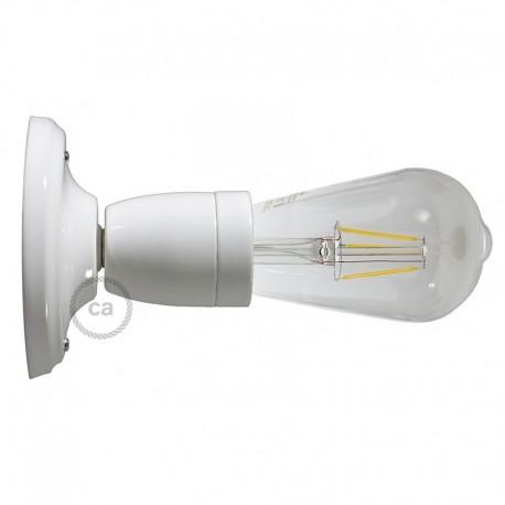 Lampe Porcelaine blanche en plafonnier ou en applique murale