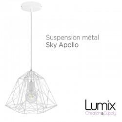 Suspension Sky Apollo en métal blanc - douille E27