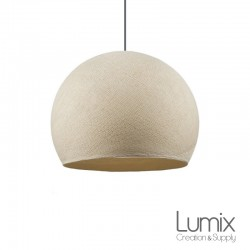 Ecru dome pendant lamp in polyester thread - 2 diameters to choose from