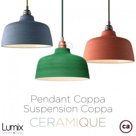 Suspension COPPA en céramique fait main