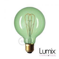 Ampoule gros Globe à filament LED - teinté Vert - 5 W / 220 Volts - G95