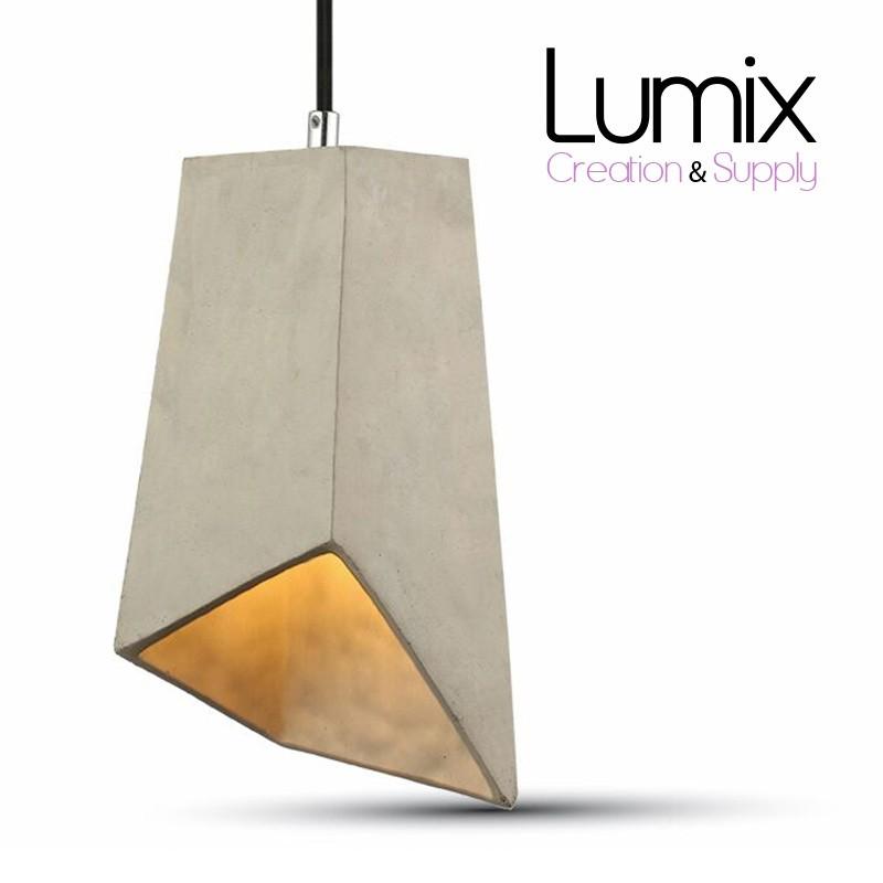 Béton E27 Prisme Douille Lampe Suspension Forme UGzMLqVpS