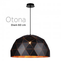 Suspension polygone OTONA diamètre 60 cm métal NOIR