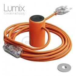 Lampe baladeuse Magnetico®-Plug 3 m de câble textile Orange