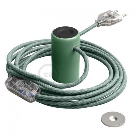 Lampe baladeuse Magnetico®-Plug 3 m de câble textile Vert