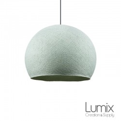 Hanging lampshade Azure cupola in polyester thread - 2 diameters to choose from