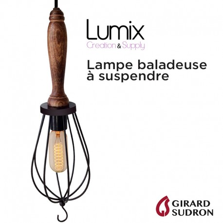 Led Bois E27 Tube Lampe Douille Baladeuse 220v À Ampoule Manche uFJTlKc351