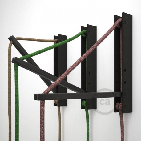 système de fixation au mur réglable en bois pour lampe baladeuse