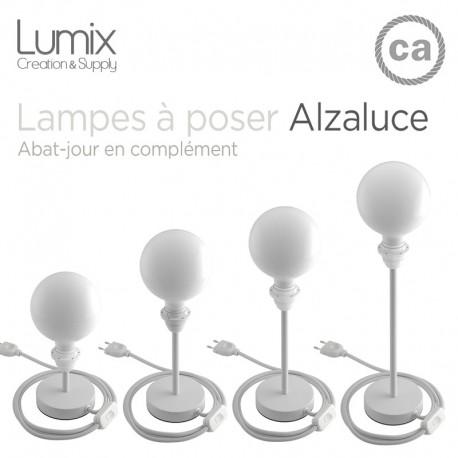 Lampe à poser configurable avec ou sans abat-jour tissus