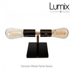 Lampe plafonnier ou en applique murale - Couleur métal chromé