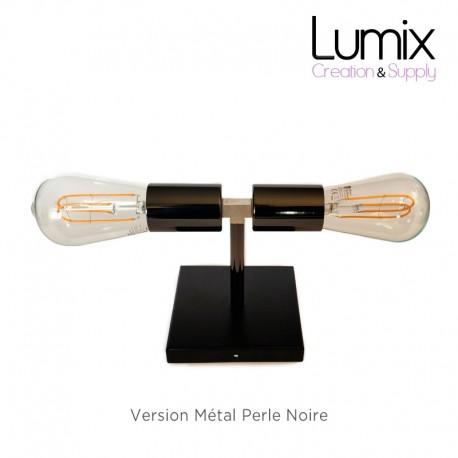 Lampe plafonnier ou en applique murale - Couleur métal Perle Noire
