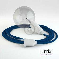 Lampe baladeuse E27 câble textile VERT LIME, douille thermoplastique avec interrupteur intégré
