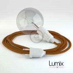 Lampe baladeuse câble textile WHISKEY, douille thermoplastique avec interrupteur intégré