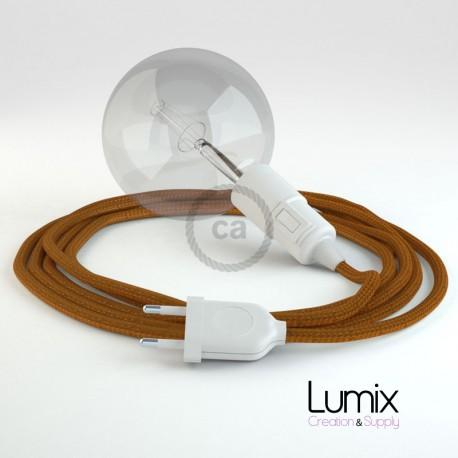 Lampe baladeuse E27 câble textile WHISKEY, douille thermoplastique avec interrupteur intégré