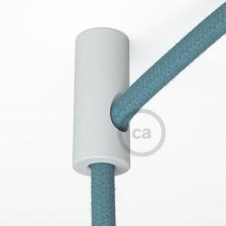 Cylindre de suspente de câble plastique Blanc
