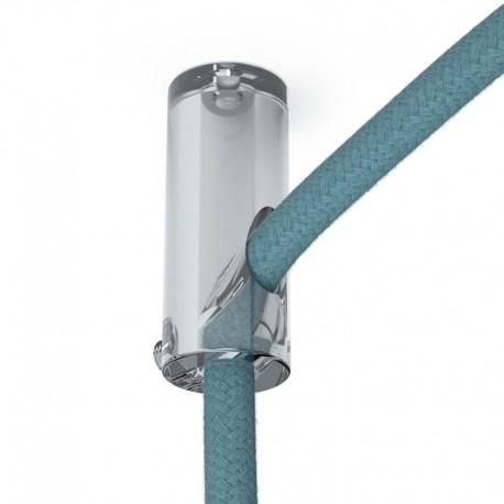 Cylindre de suspente de câble plastique transparent