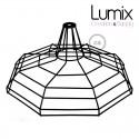 Abat-jour cage XL Sonar métal Noir avec douille E27